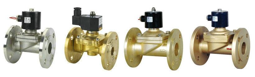 2w-f分步直动式法兰电磁阀技术参数: 适用介质:液体,水,气,油 介质图片
